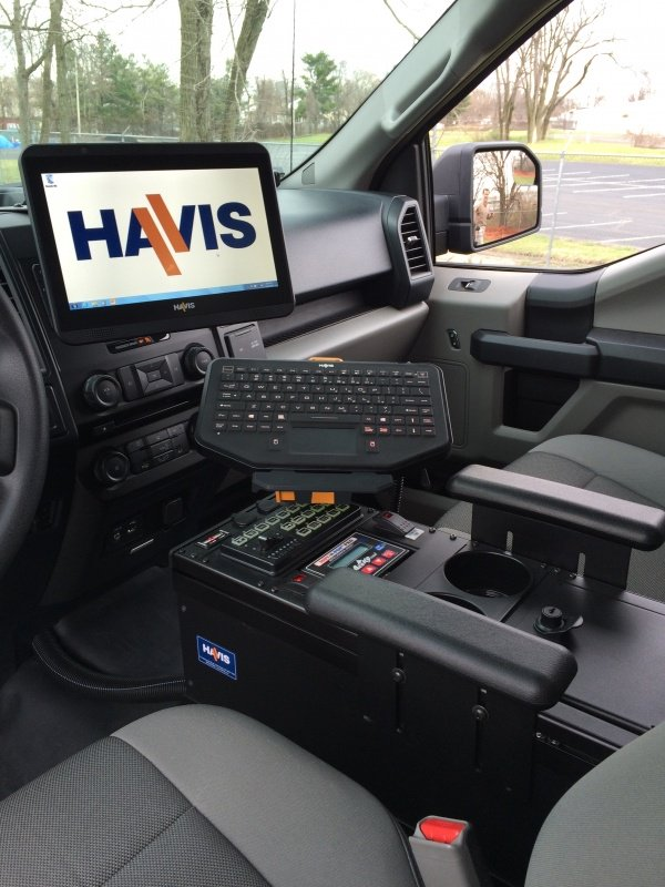 Mounted easy to remove tablets is one of many mobile solutions Havis offers.