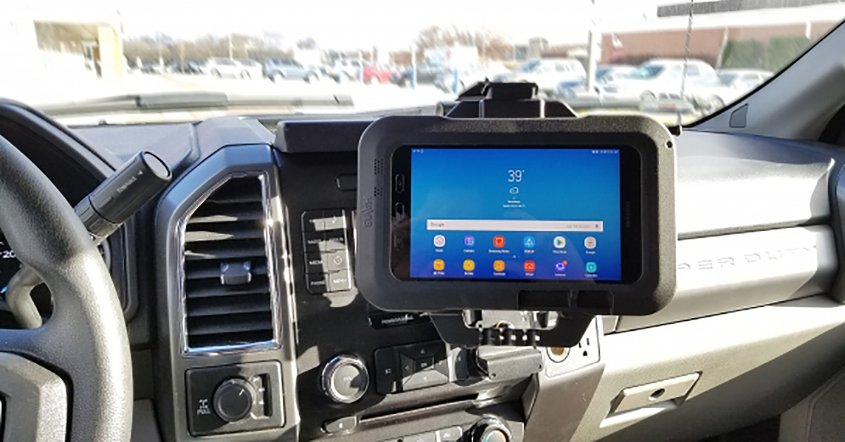 New Havis tablet mount
